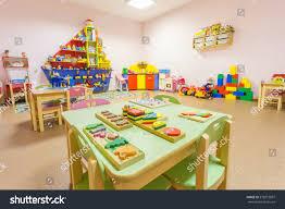 peach colored game room kindergarten stock photo 572019097