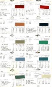 paint color codes australian mga