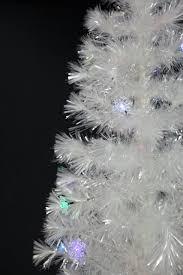 white fiber optic tree lights decoration