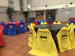 used chair covers bat captain america i used plastic covers and made capes