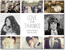 wedding thank you postcards ideas wedding thank you cards with photo finishing
