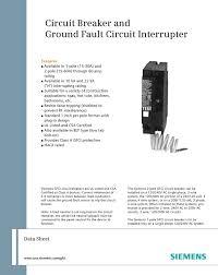 siemens qf120 20 amp 1 pole 120 volt ground fault circuit