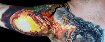 70 dragon arm tattoo designs for men fire breathing ink ideas