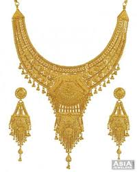 yellow gold necklace sets images 22k yellow gold necklace set ajns53764 22k gold big necklace jpg
