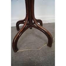 thonet antique bent wood standing coat rack chairish