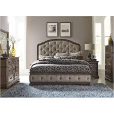 King Upholstered Bed Frame 487 Br15hu Liberty Furniture Amelia Bedroom King Upholstered Bed