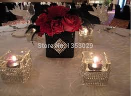 mesh ribbon table decorations free shipping 4 5 width 10yards rhinestone crystal silver