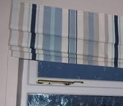 laura ashley fabric mylor stripe roman blind 60 cms wide x150 cms