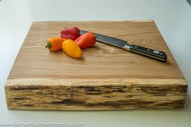 how to make a cutting board out of a tree stump
