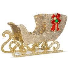 santa sleigh for sale sleigh outdoor christmas decorations you ll wayfair ca