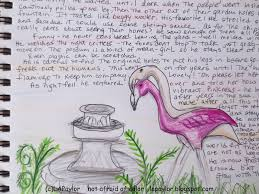 not afraid of color flamingo love story and sketch of the day
