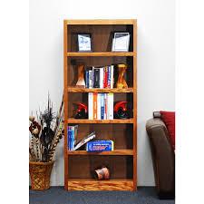 Sauder Premier 5 Shelf Composite Wood Bookcase by E Ready Emery Salvaged Oak Open Bookcase Er Eme Obk44 S The Home