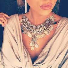 long silver fashion necklace images 2015 hot tassel exaggerated long silver coin necklace women jpeg