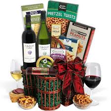 wine baskets cakebread duo wine gift basket by gourmetgiftbasket