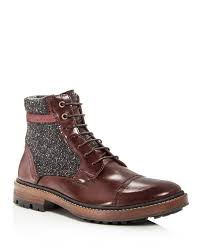 Images of Mens Brown Leather Lace Up Boots