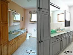 staining oak kitchen cabinets before and after