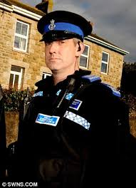 On trial  Police community support officer Peter Bunyan  above  is accused of using Daily Mail