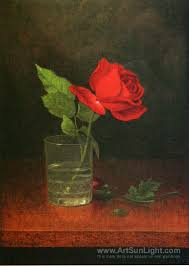 Single Rose In A Vase A Single Rose In A Glass 1878 1883 Martin Johnson Heade Oil
