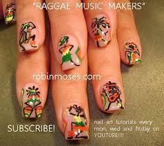 robin moses nail art hemp fest nail art reggae nail art red