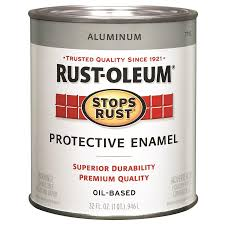 shop rust oleum stops rust aluminum gloss metallic oil based