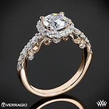 real diamond engagement rings verragio half eternity halo diamond engagement ring 1915