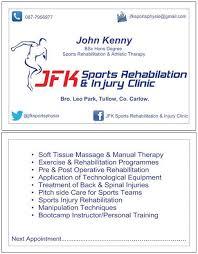 Sports Massage Business Cards Jfk Sports Physio On Twitter