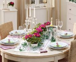 Easter Table Decorations Design by Shamrock St Patricks Day And Easter Table Centerpieces