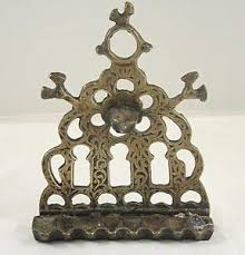 antique menorah bronze menorah moroccan judaica antique hanukkah l cast