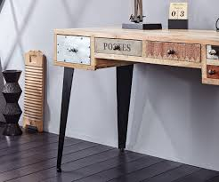 Schreibtisch Weiss 130 Cm Schreibtisch Himalaya 130 Cm Mango Natur 6 Schübe Möbel Tische