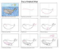 draw a humpback whale art projects for kids