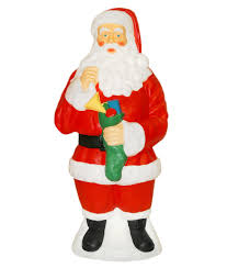 Light Up Christmas Decorations Outdoor by General Foam Plastics Light Up Traditional Santa Claus 40 In