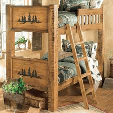 Barnwood Bunk Beds Forest Carvings Barnwood Bunkbed