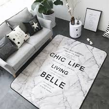 Rug For Bathroom Fashion Marble Like Living Room Bedroom Decorative Carpet Area Rug