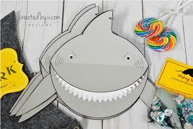 shark invitation custom created by v