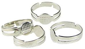 metal rings jewelry images Metal blank rings base findings diy supplies pad jewelry making jpg