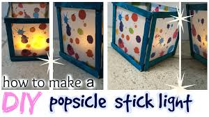 diy popsicle stick light easy craft idea youtube