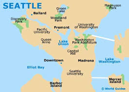 seattle map restaurants map usa seattle seattle maps maps of seattle washington wa usa