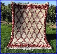 authentic handmade moroccan azilal rug 100 wool berber carpet 8 u00273