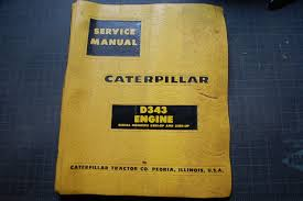 cat caterpillar d343 diesel engine service manual repair shop book