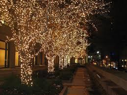 city lights christmas lights new york city in december