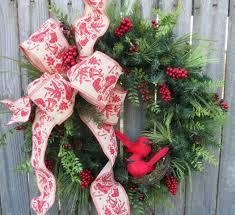 christmas wreath winter wreath red bird wreath cardinal wreath