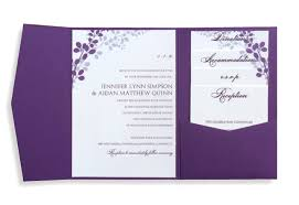 purple wedding invitation kits amulette jewelry