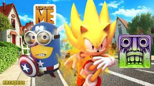 temple run 2 halloween vs sonic dash 2 vs despicable me 2 minion