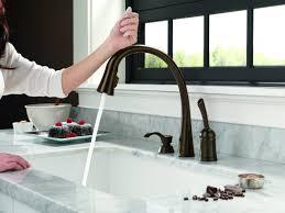touchless kitchen faucet bronze faucet ideas