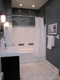 gray subway tile love the marble floor since mot has told me he