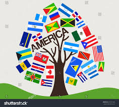 World Flag Set World Flag Tree Design America Stock Vector 653427346