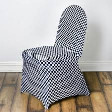 white chair covers checkered spandex stretch banquet chair cover black white