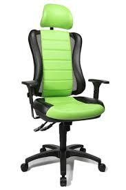 bureau vert fauteuil de bureau vert et noir point rs avec têtière topstar