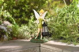 disney statue with solar lantern tinkerbell limited availability