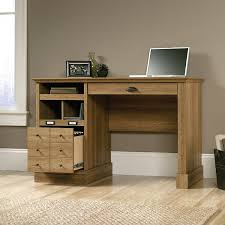 Small Oak Computer Desk Amazon Com Sauder Barrister Lane Desk In Scribed Oak Kitchen